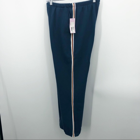 Wild Fable Blue Rainbow Striped Joggers NWT